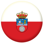 Cantabria Flag 58mm Mirror Keyring.